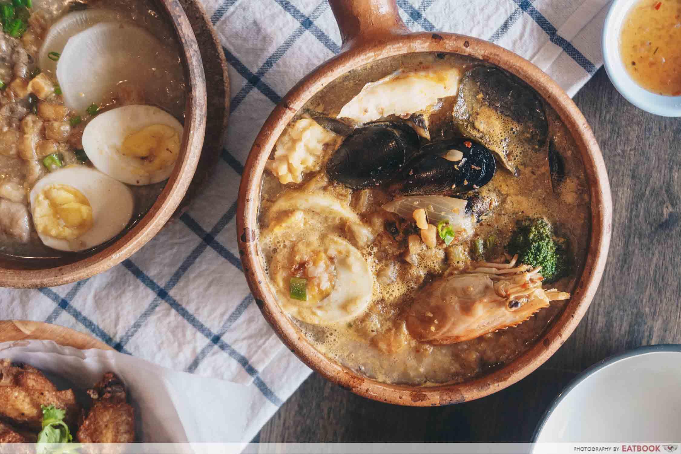 Jok Jok Mor - Tom yum porridge