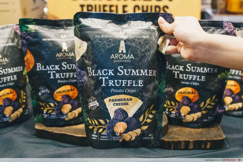 Packet of truffle chips
