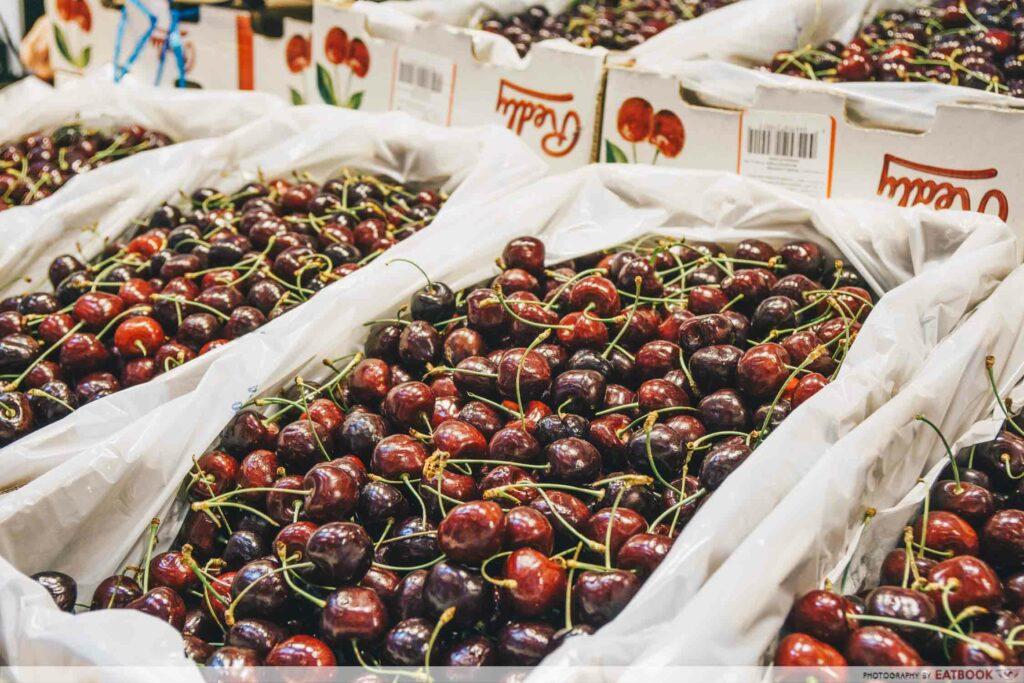 Cartons of cherries