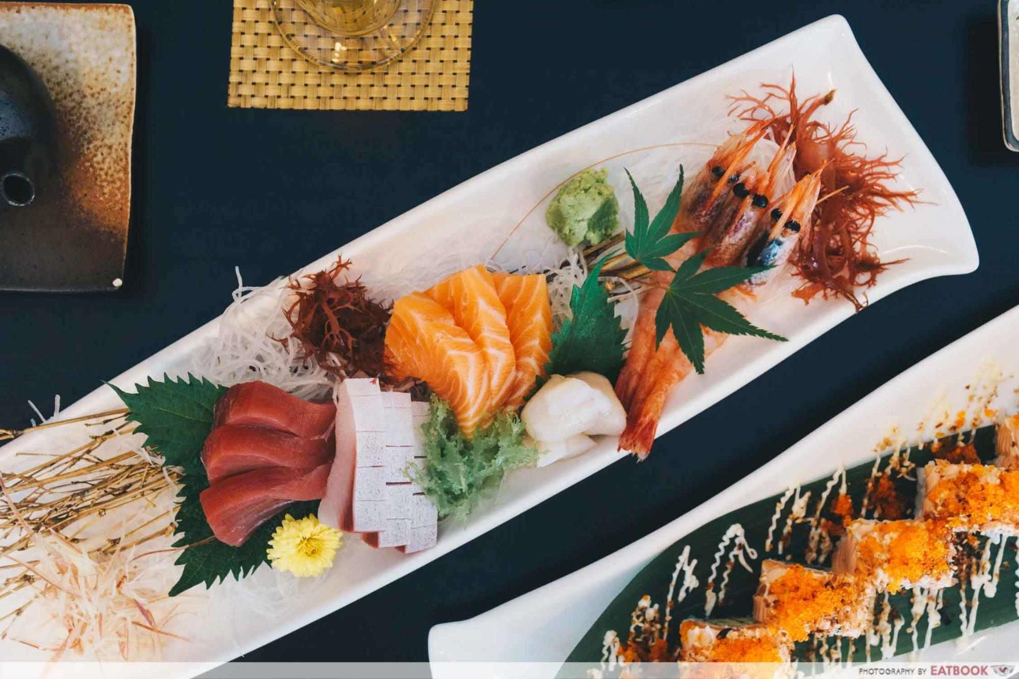 A plate of sashimi
