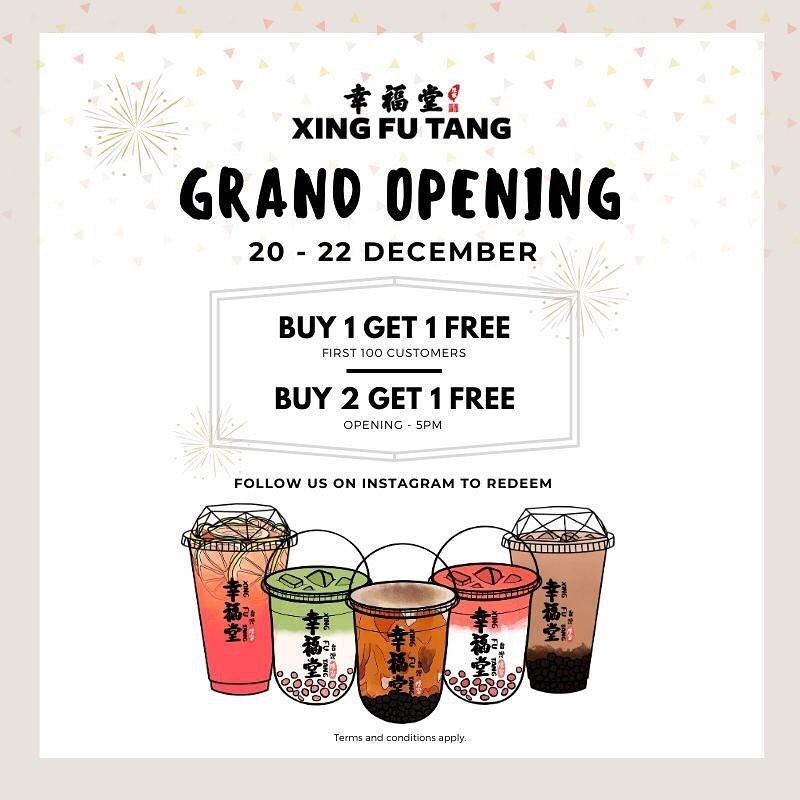 Xing Fu Tang Plaza Singapura - 1-for-1 Promotion