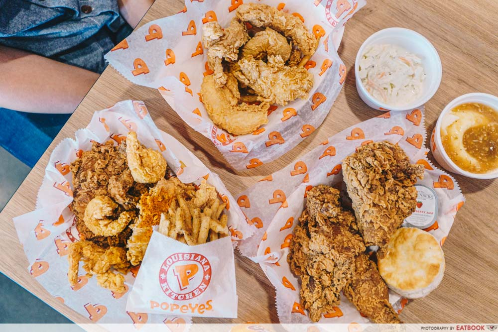 popeyes new outlet flatlay