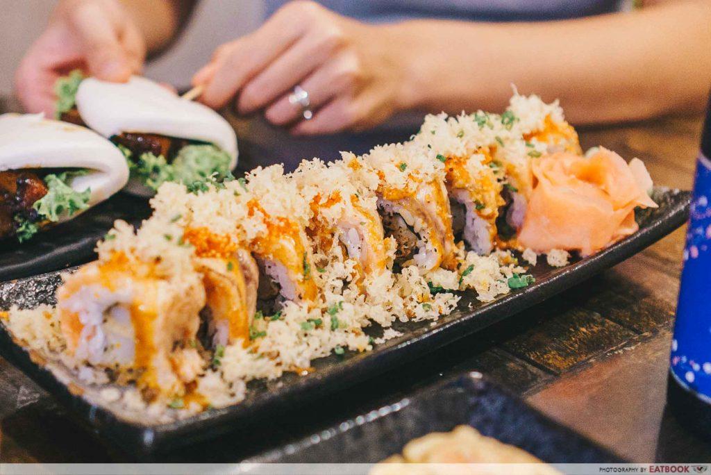 Box n Sticks Spicy Aburi Seafood Maki