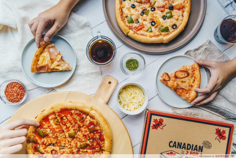 Canadian Pizza - Flatlay