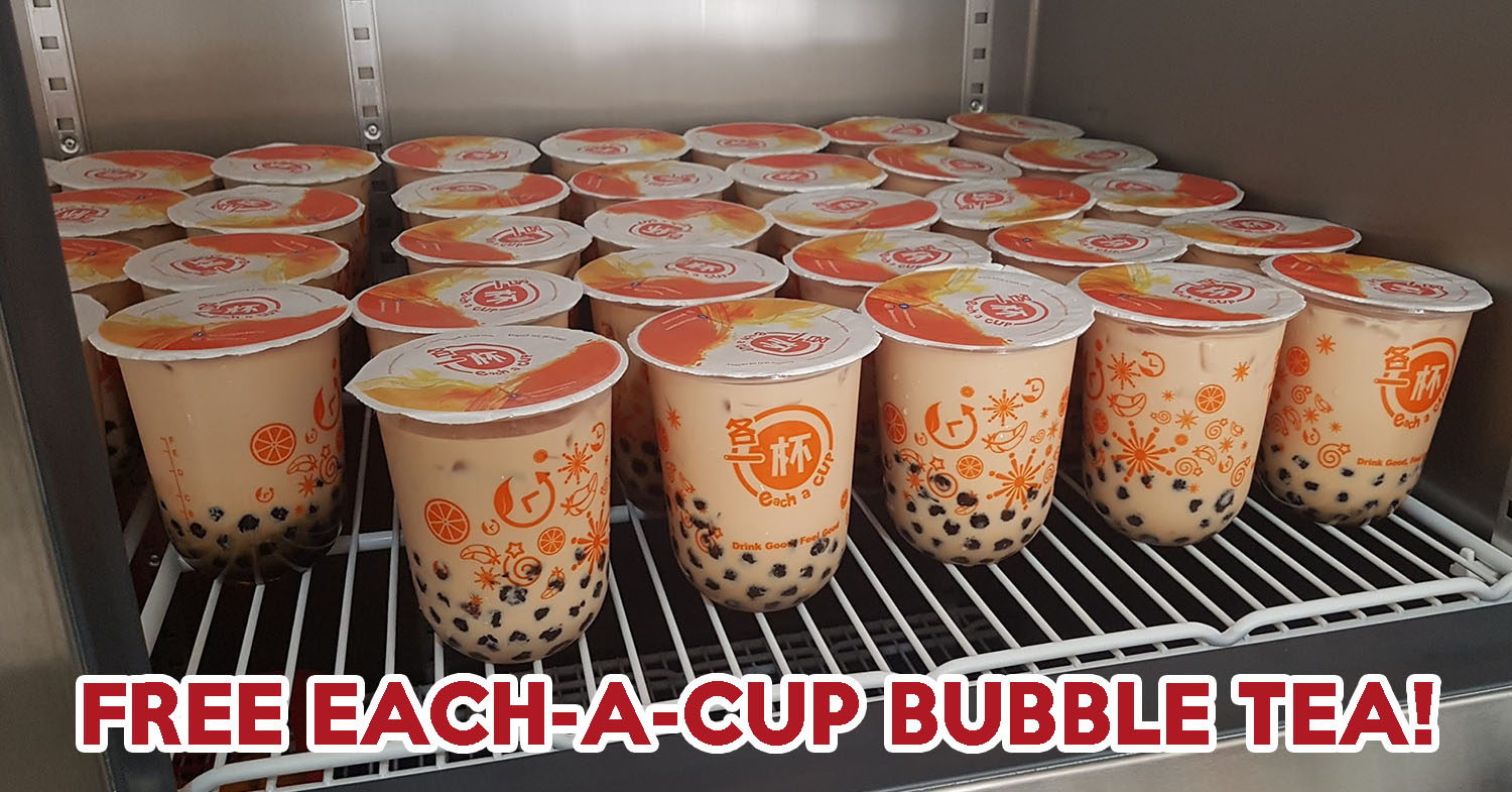 Get Free Bubble Tea At Selected Each-A-Cup Outlets On 9