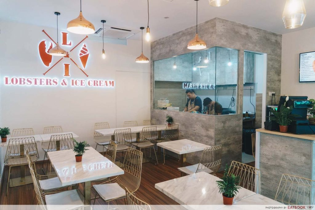 interior of lobster and ice-cream cafe