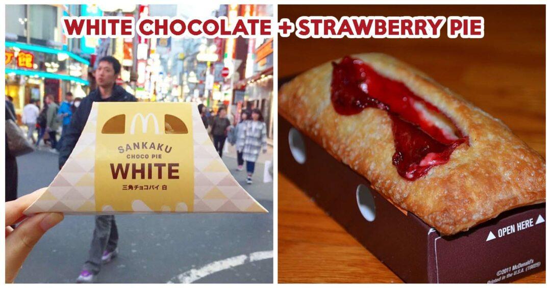 McDonald White Chocolate And Strawberry Pie