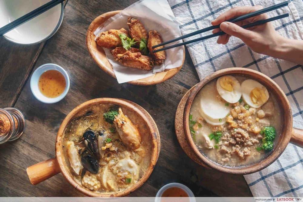 thai claypot porridge