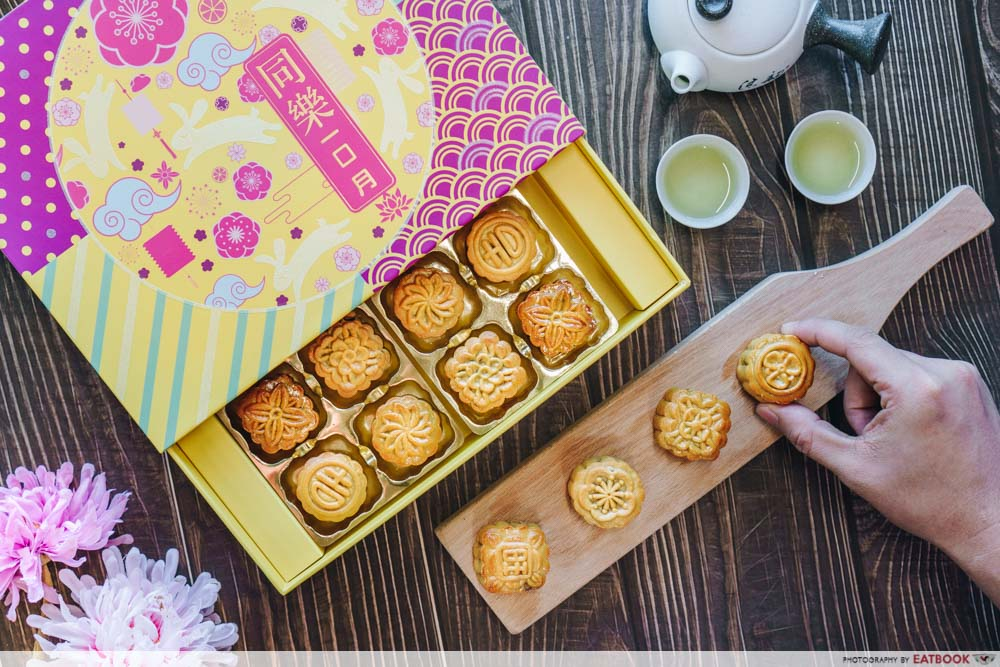 photo of the bite-sized mooncakes