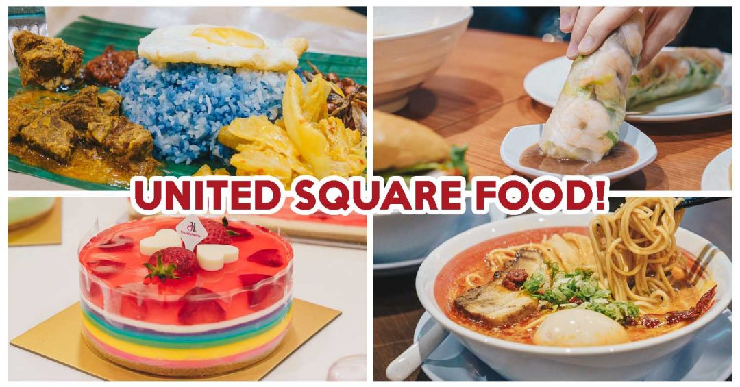 Collage of four food from United Square