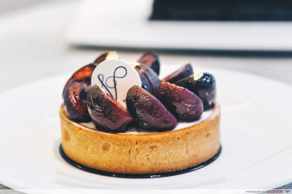 black cherry tart