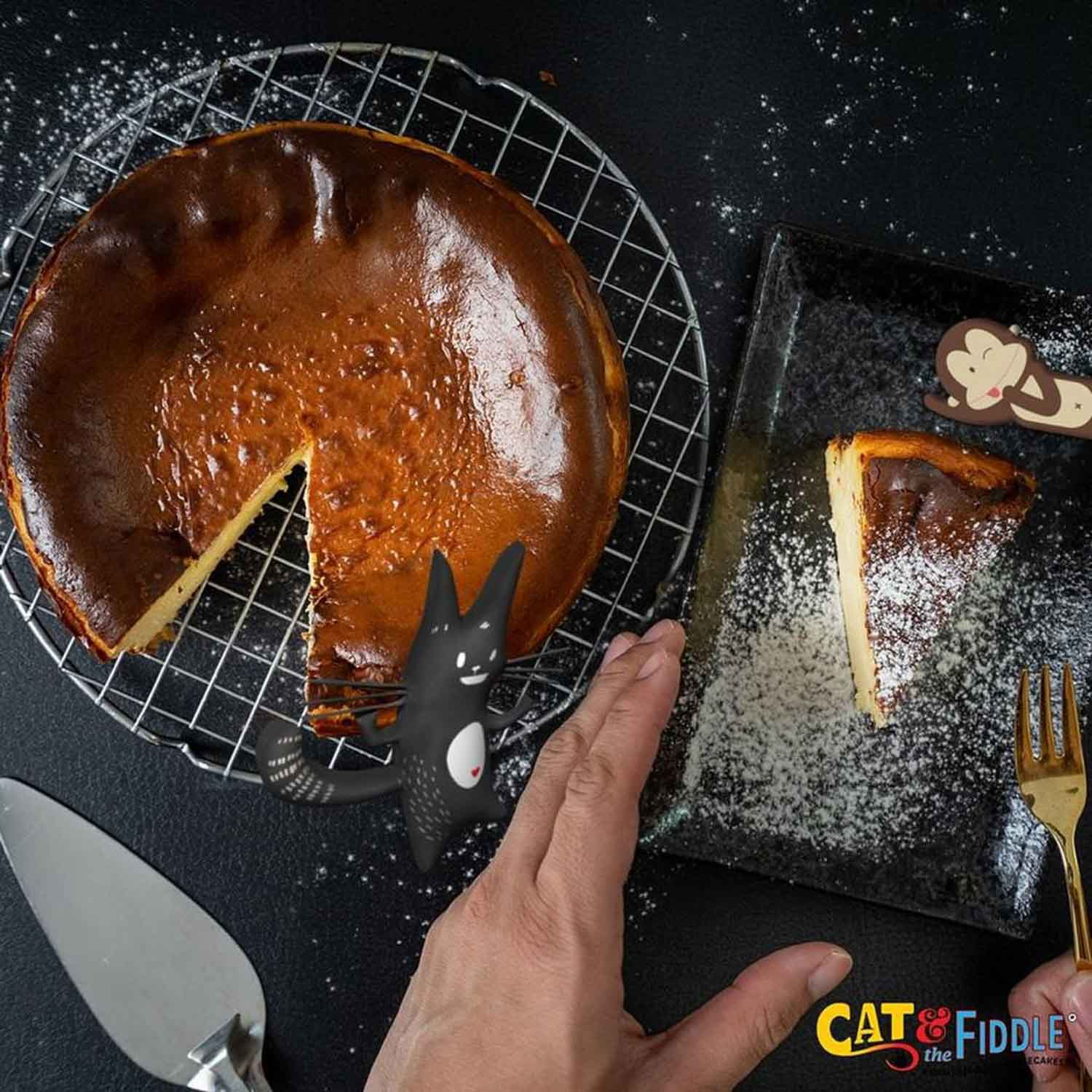 Burnt cheesecakes - Cat and the Fiddle
