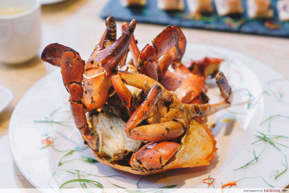 wok fry crab