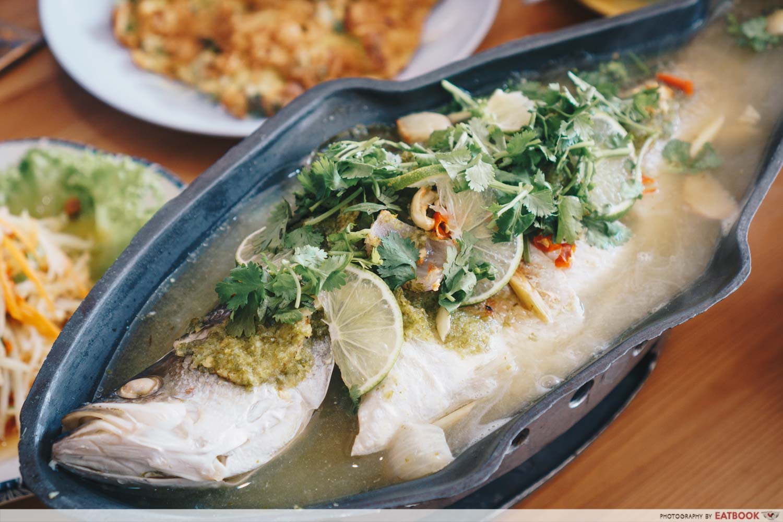 Tuk Wan Kitchen - Steamed Seabass Thai Green Lime