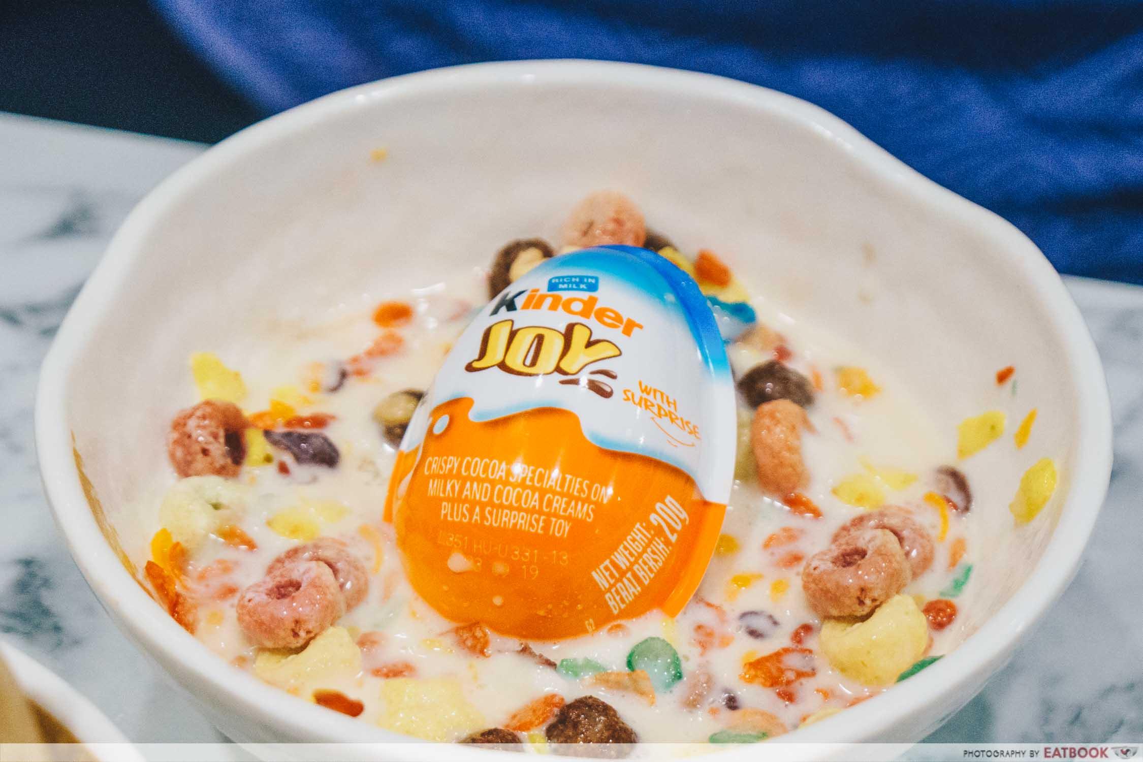 Kinder Joy in a bowl