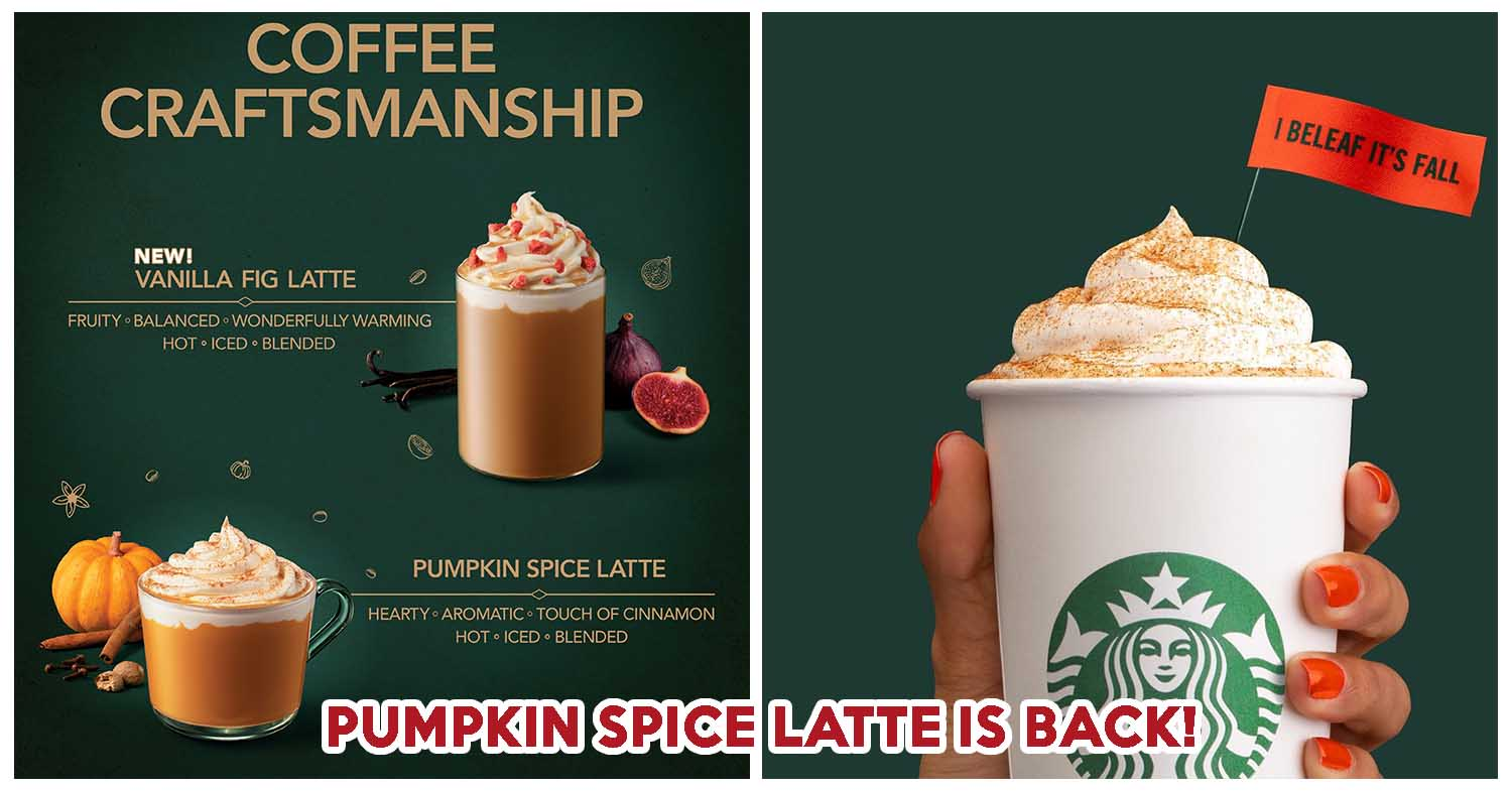 Starbucks Pumpkin Spice Latte Is Back Along With An All New