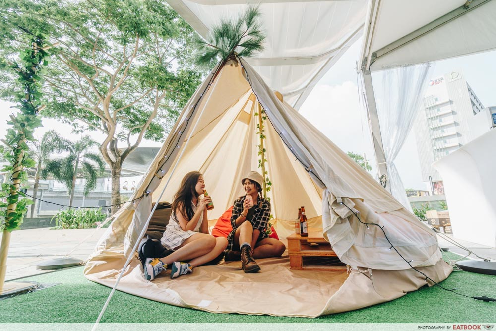 Changi City Point Glamping Tent