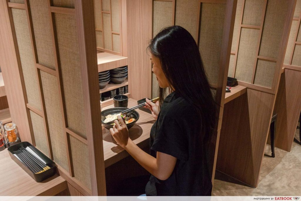 Singapore's first private ramen booth