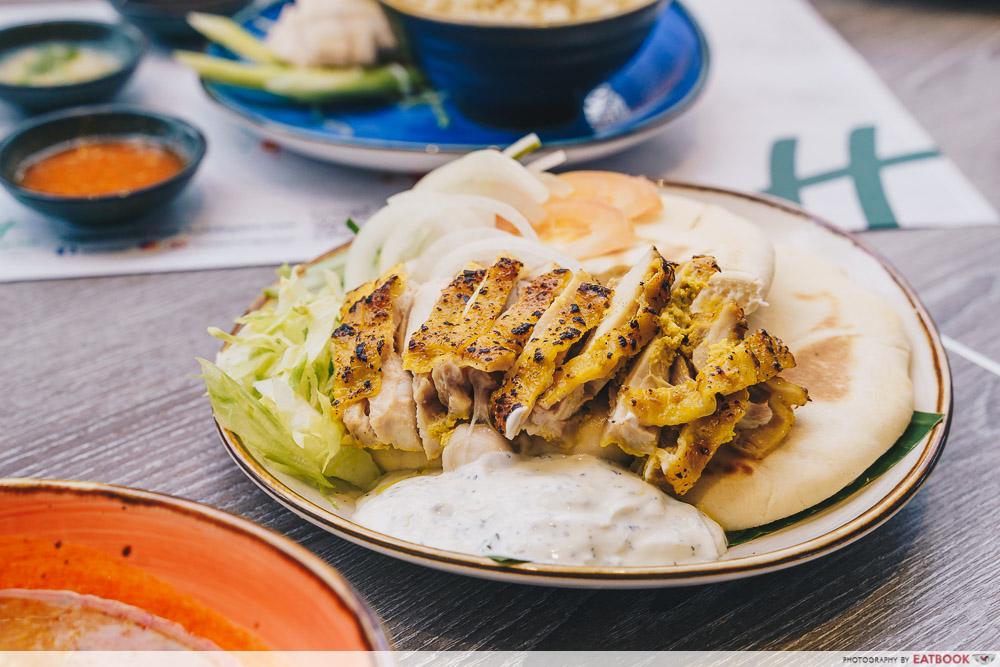 Holiday Inn Singapore Atrium Restaurant shawarma dish