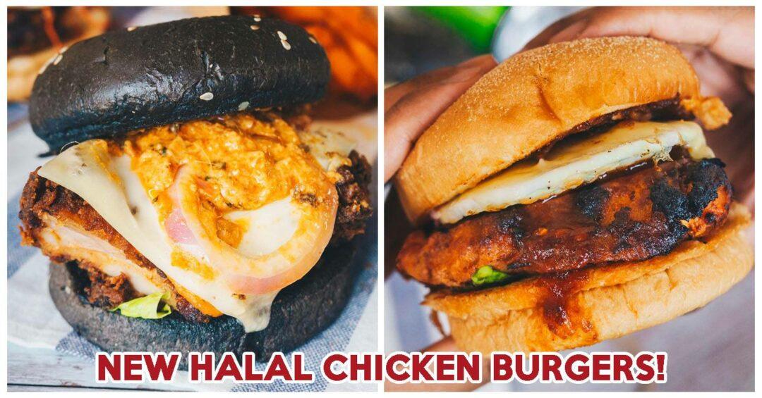 Juicy halal burgers