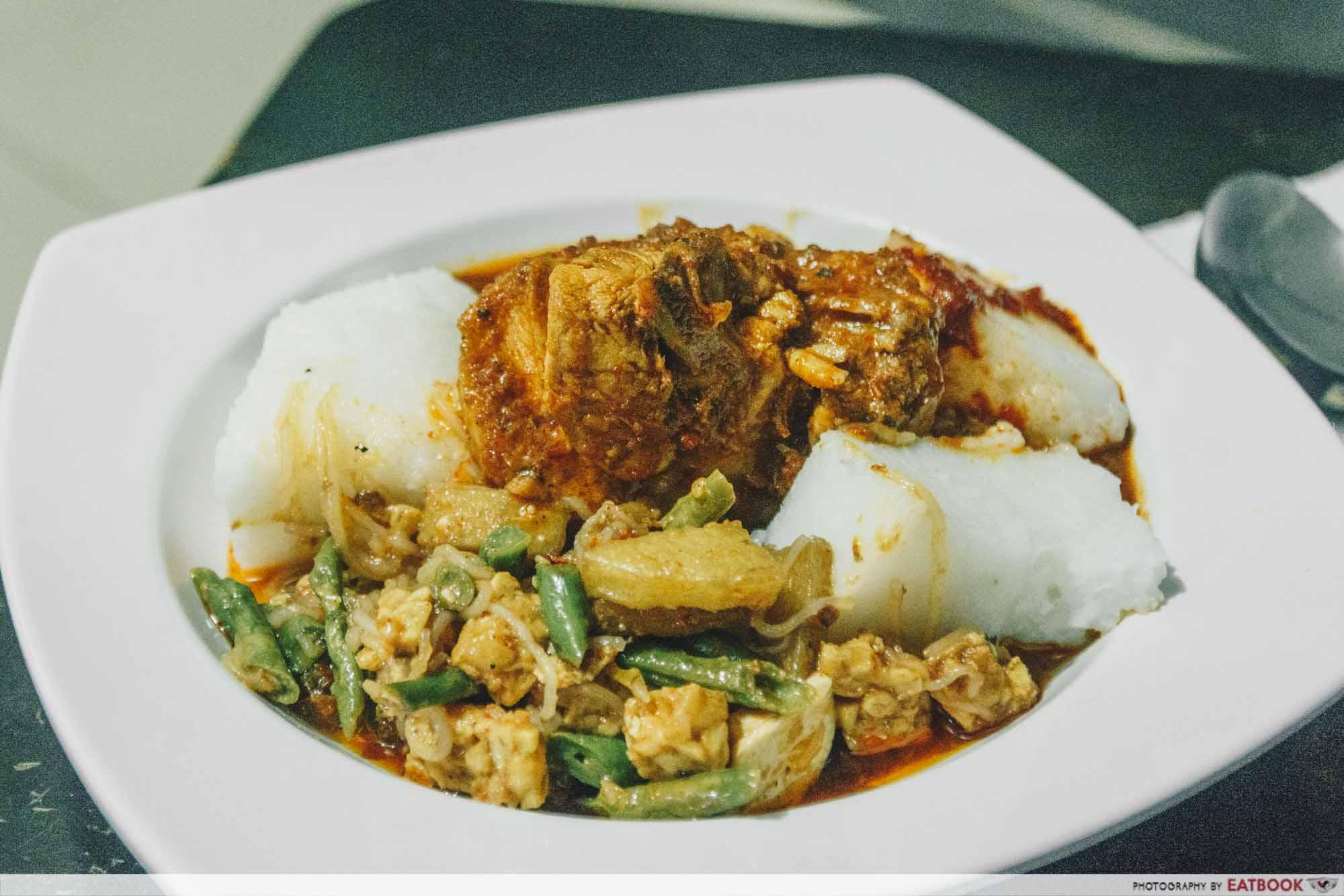 Johor Bahru Hawker Food - Lontong Kering