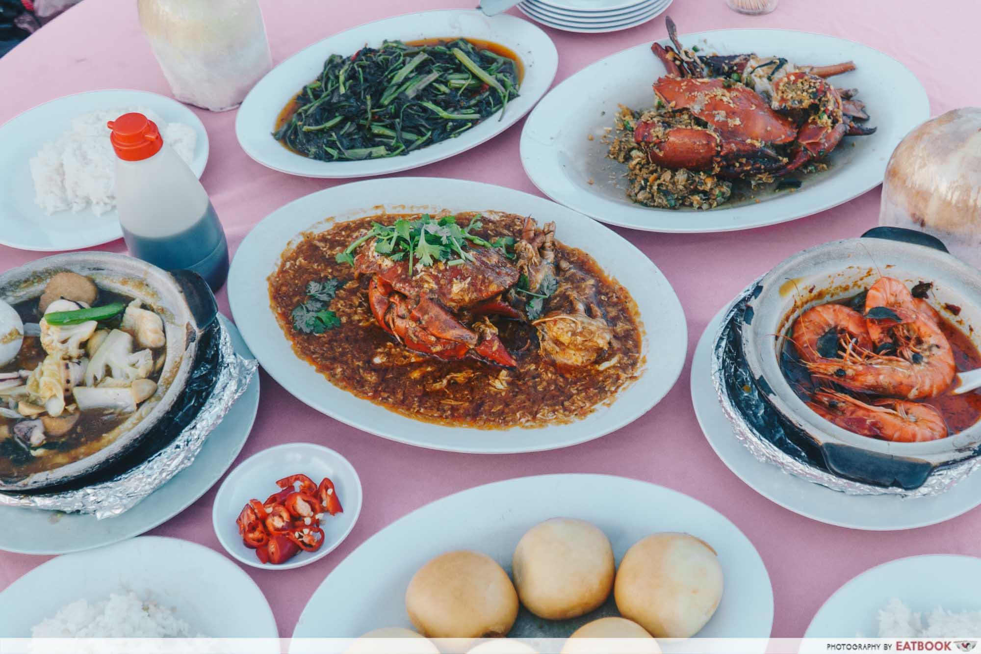 Johor Bahru Hawker Food - Todak Seafood Flatlay