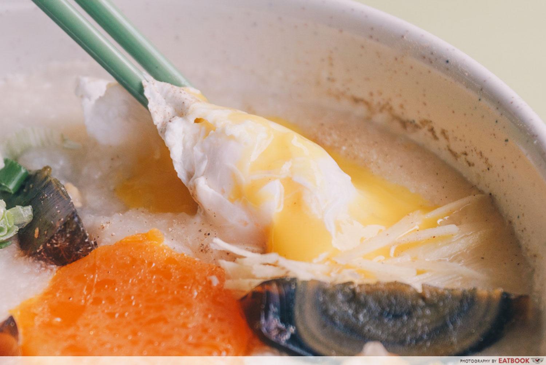 Weng Kiang Kee Porridge - Poached egg