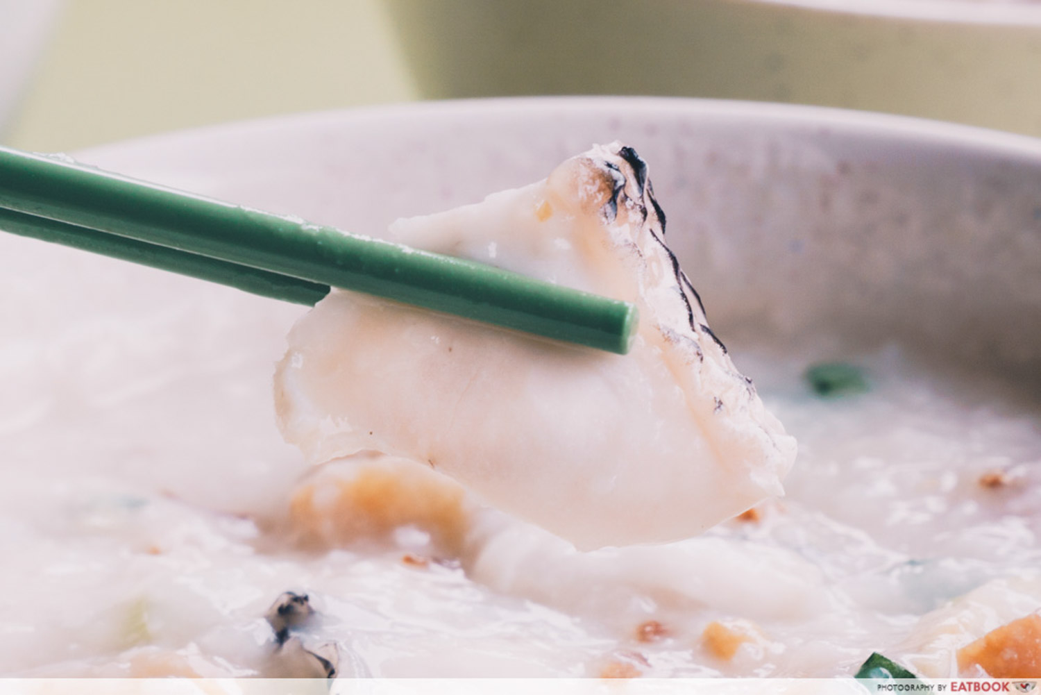 Weng Kiang Kee Porridge - Sliced fish