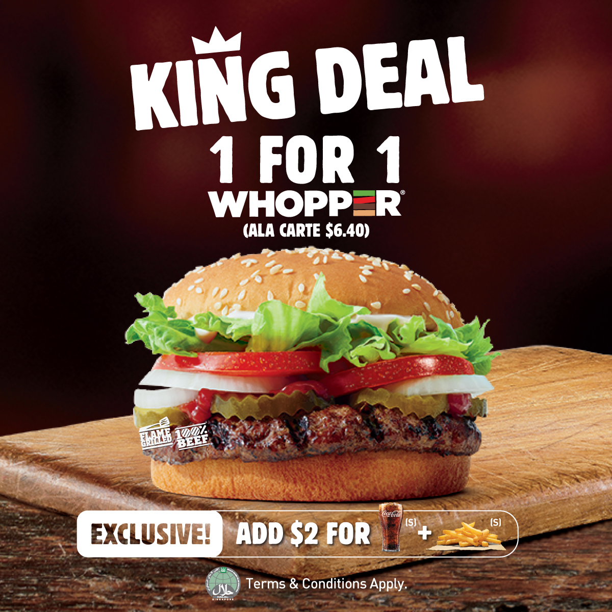 1-for-1 Whoppers - Burger King Poster