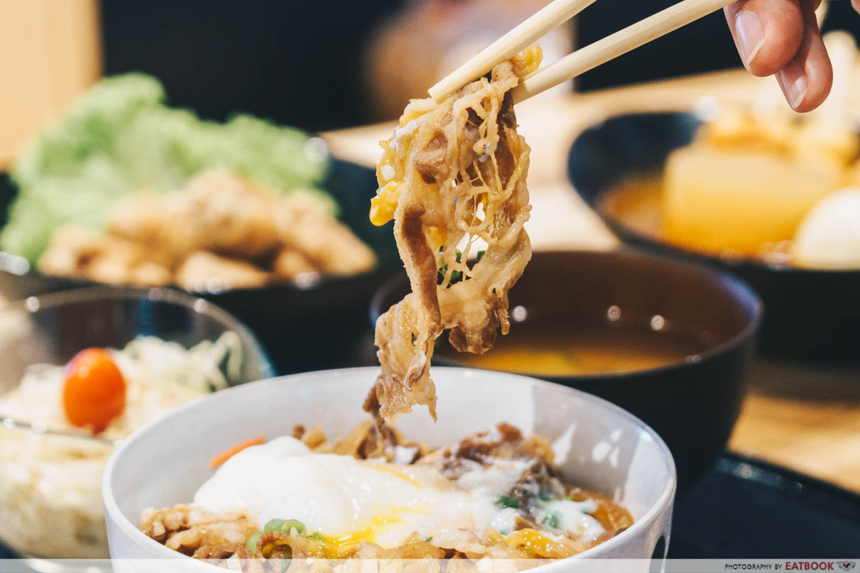 Gyudon & Onsen Tamago Set