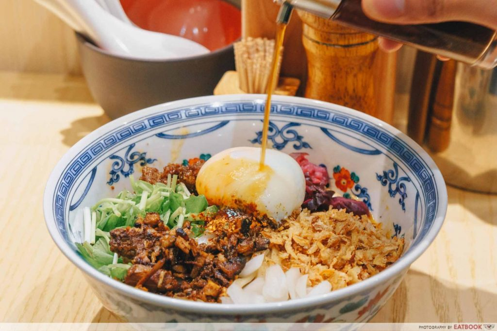 Enishi dan dan noodles with vinegar
