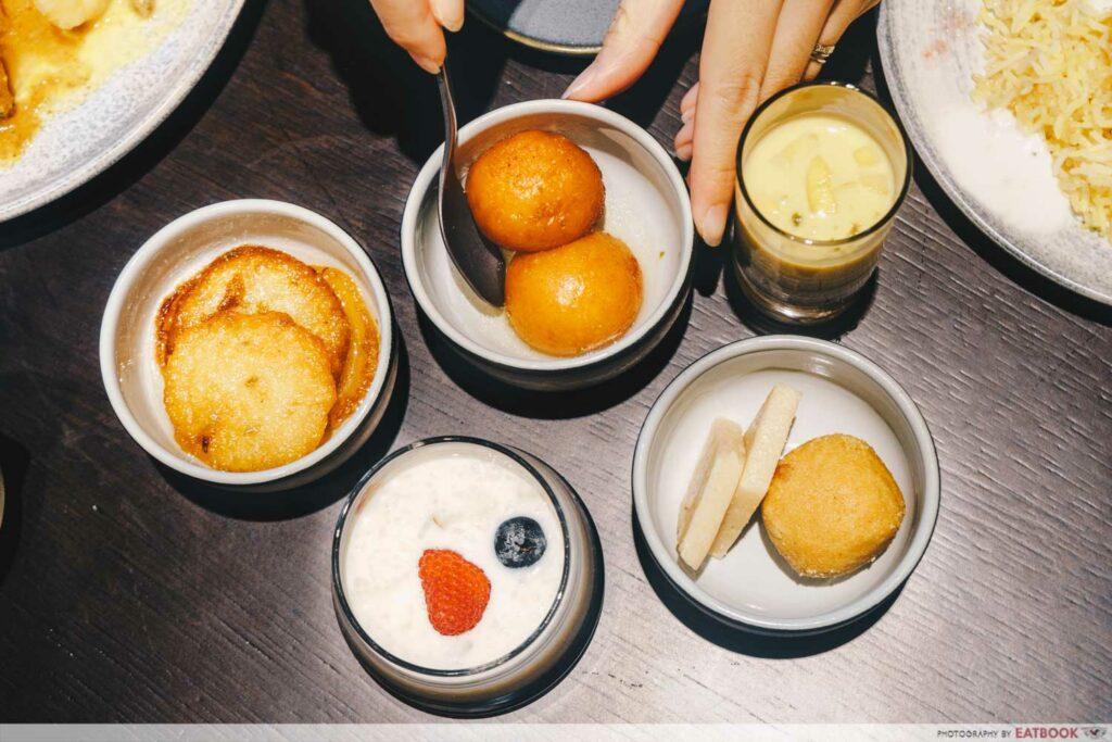 Tiffin Room Dessert flatlay