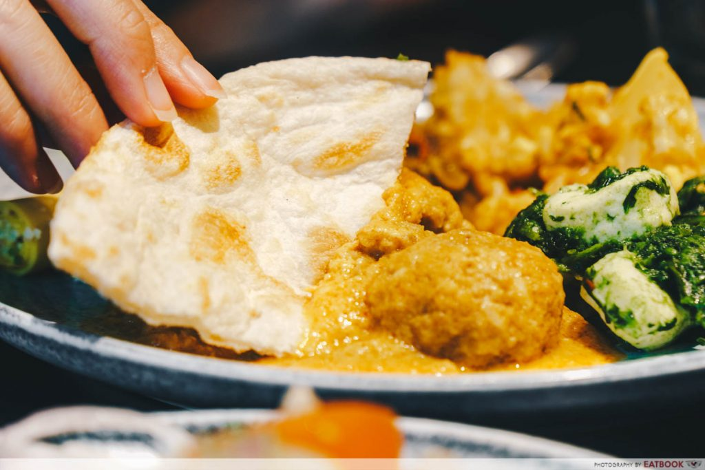 Tiffin Room - naan dipping
