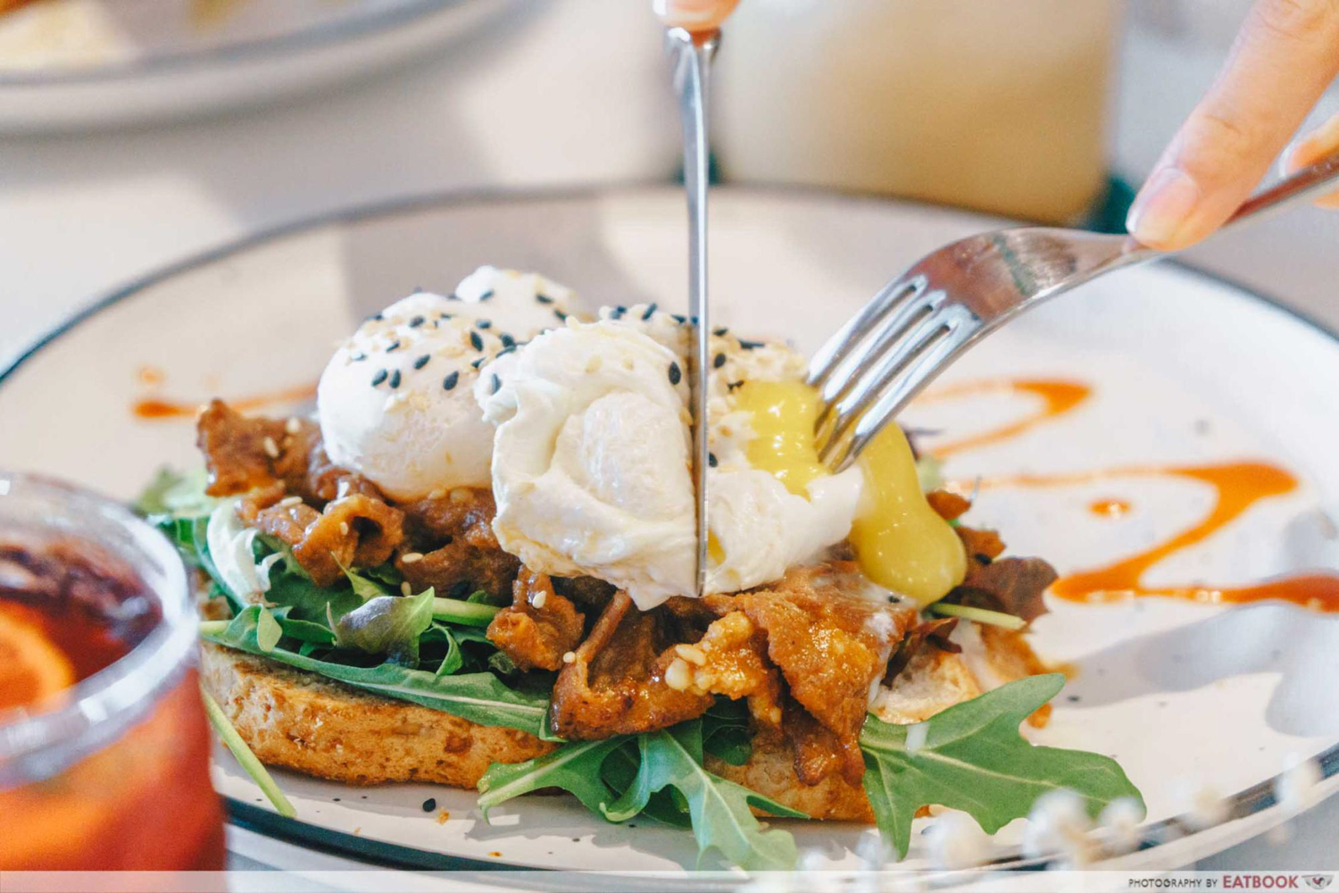 Two Cranes - Poached egg