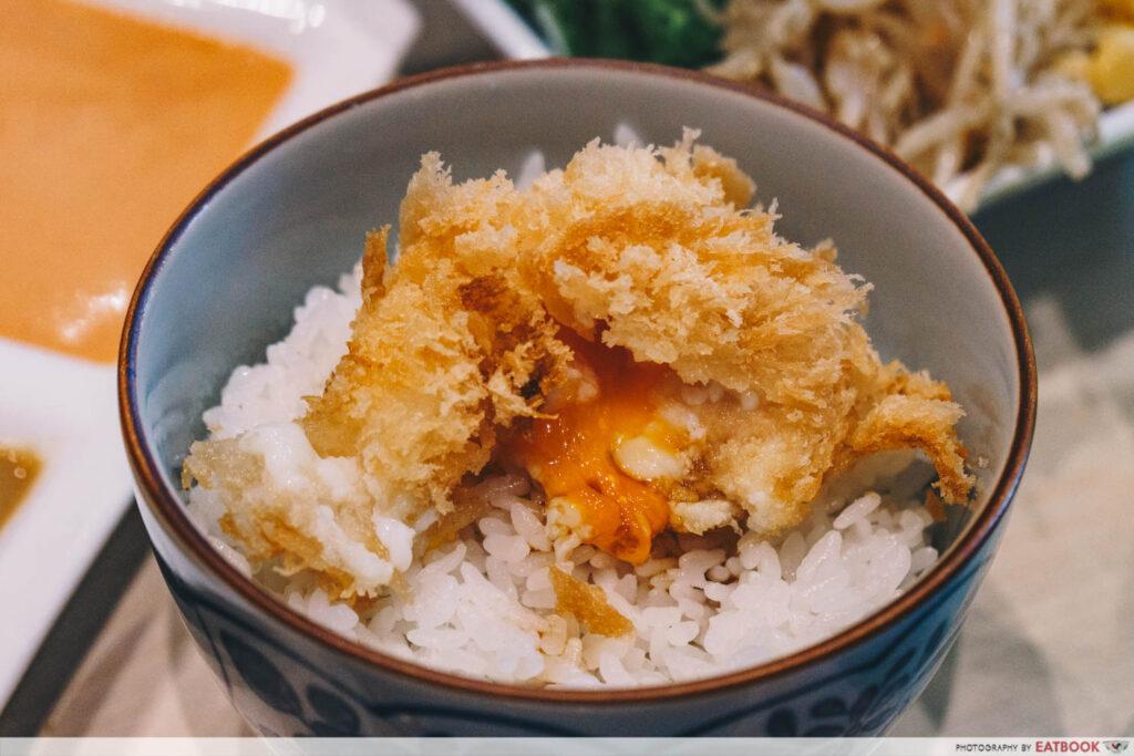 shiokoji Tonkatsu Keisuke egg with soy sauce