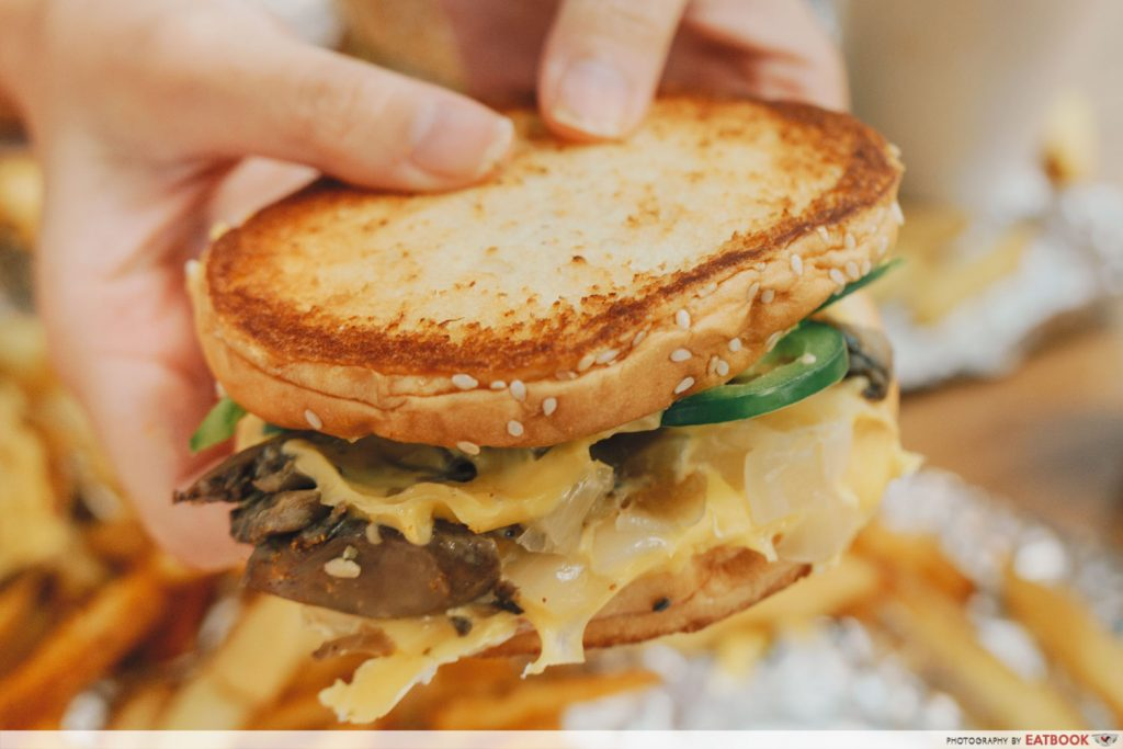 Five Guys Singapore Grilled Cheese