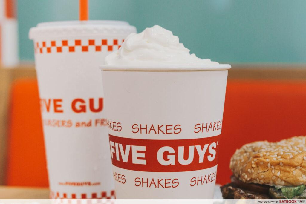 Five Guys Singapore Milkshake
