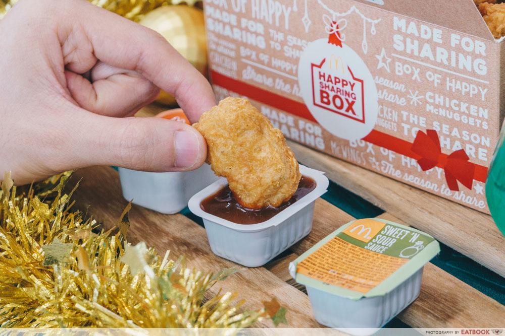 McDonald's Festive Happy Sharing Box - McDonald's Nuggets Dipping