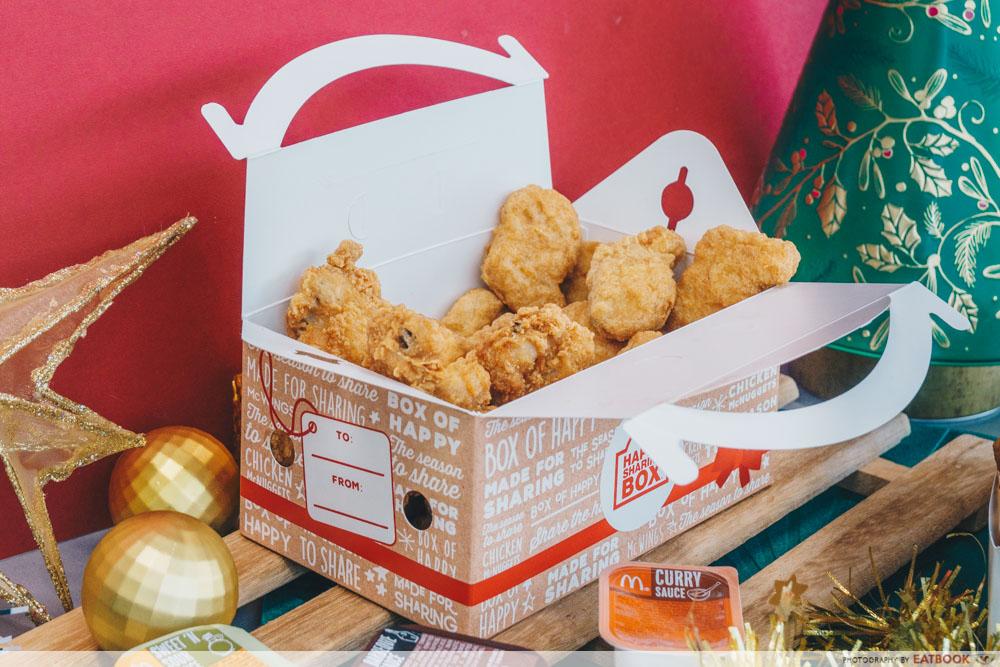 McDonald's Festive Happy Sharing Box - Sharing Box with lid open