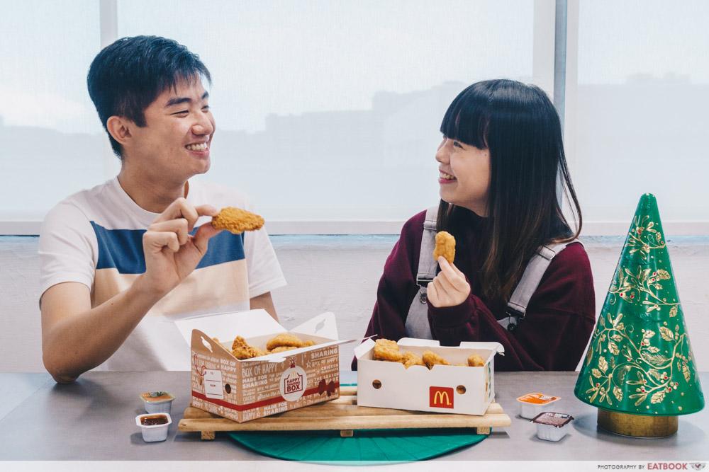 McDonald's Festive Happy Sharing Box - Talents eating sharing box