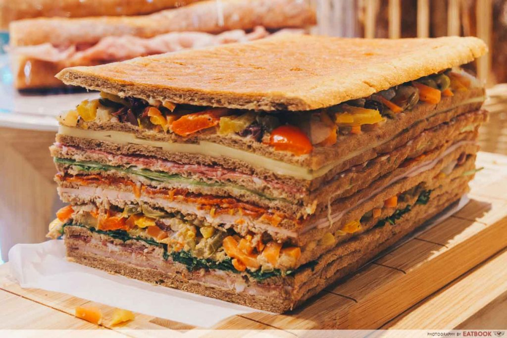 Whole 9 yards sandwich