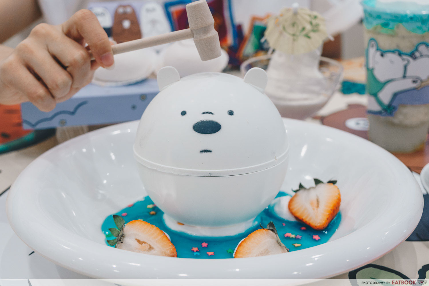 We Bare Bears Cafe - Knock knock Ice Bear Chocolate Ball