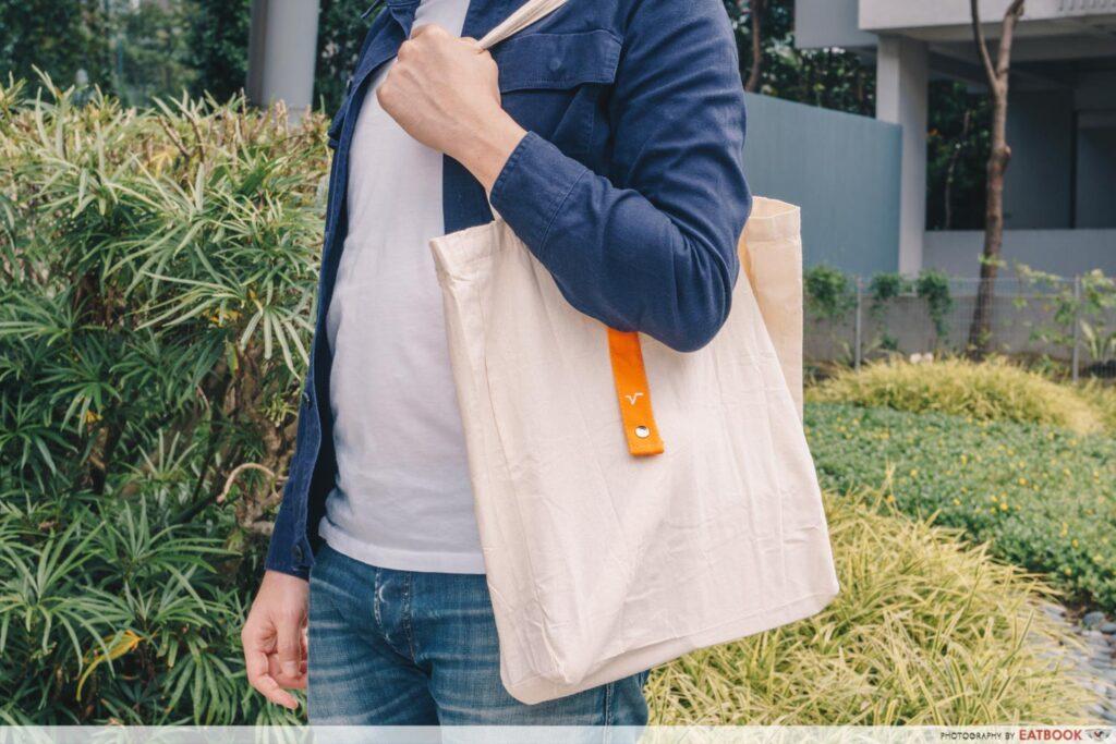velocity food tote bag