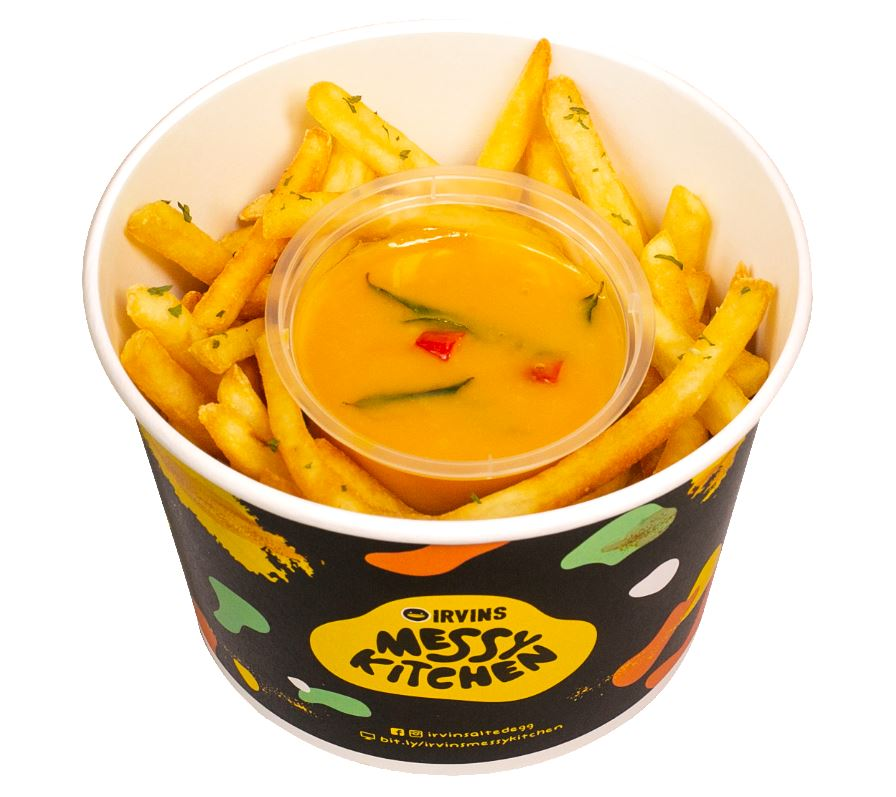 A tub of fries