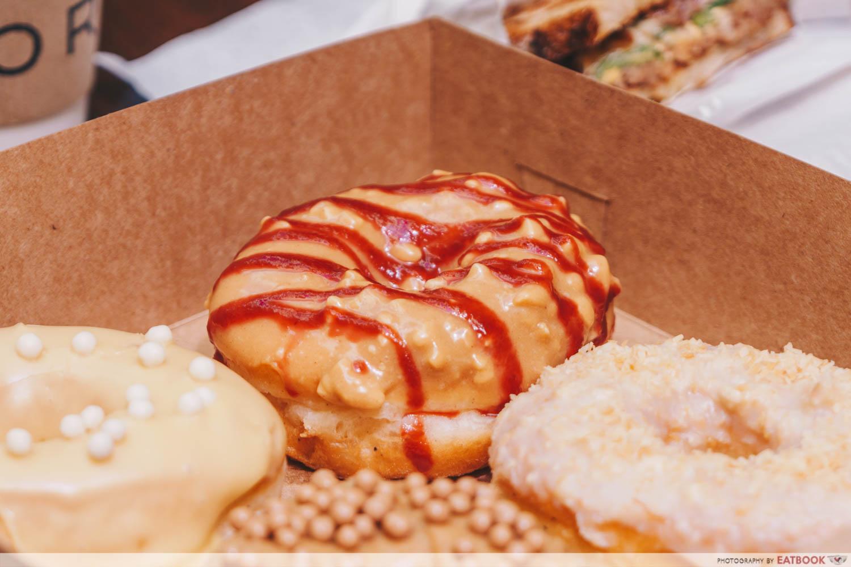 Korio - Peanut butter raspberry jelly donut