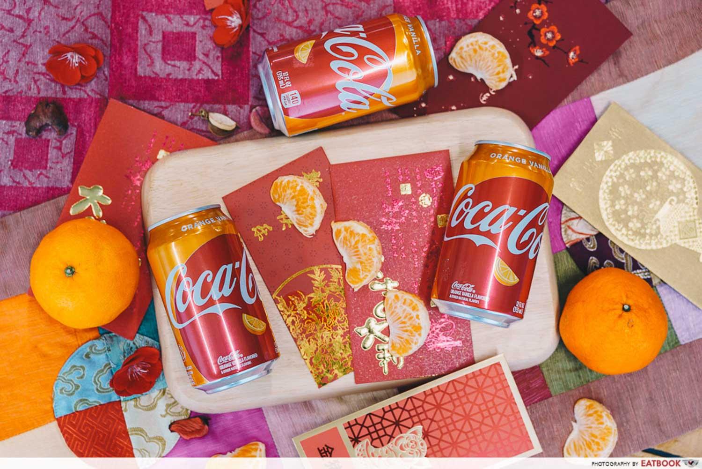 Orange Vanilla Coca Cola - Flatlay