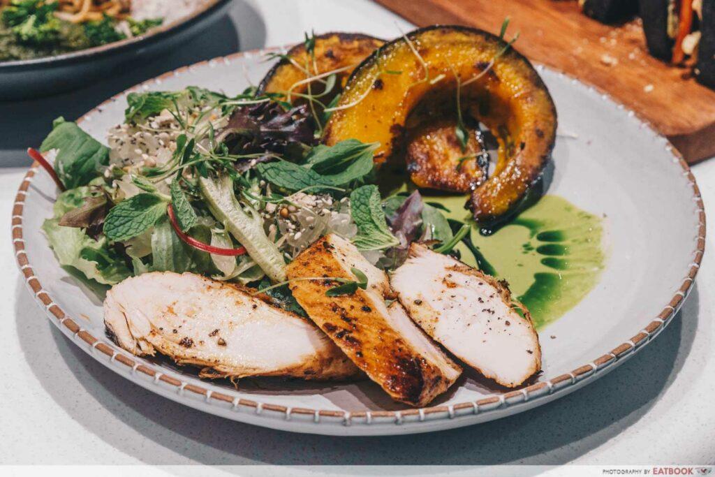 Tiong Bahru Bakery Diner Hot Chicken Salad & Caramelised Pumpkin