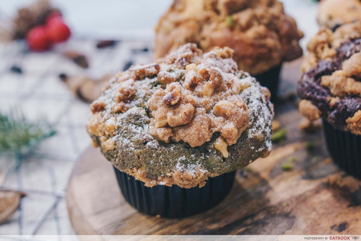 AJ Delights - Green Tea Monster muffin