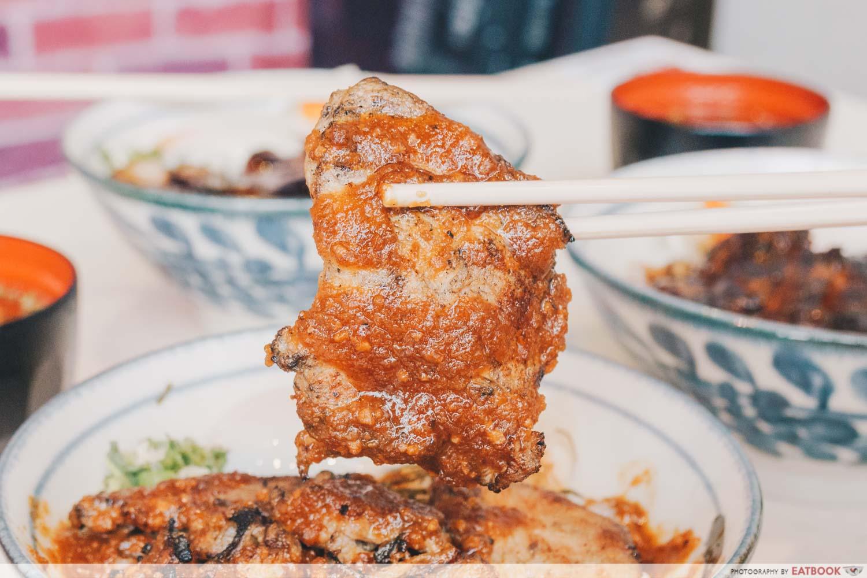 Buta Kabayaki - Garlic Pork Loin Closeup