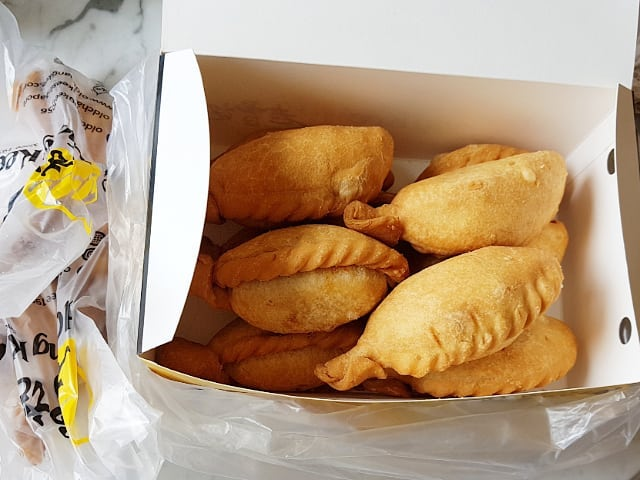 Old Chang Kee Free Curry Puff box